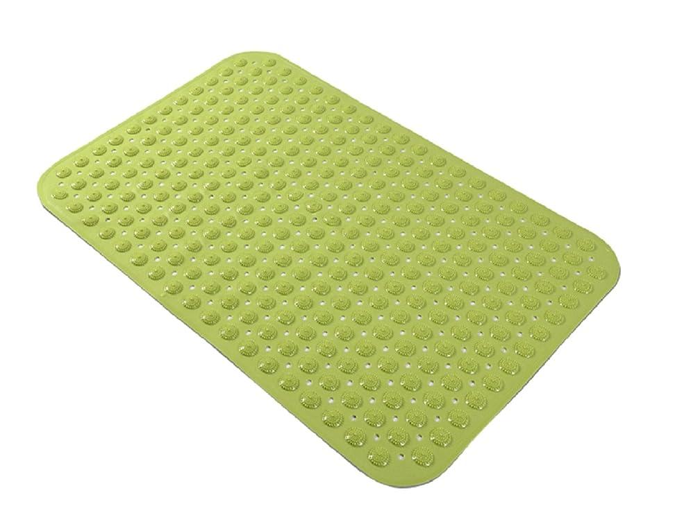 エチケット安全なレイプTOL 浴槽用 バスマット 滑り止め 吸盤付き 転倒防止 介護 防カビ仕様 35×71cm (グリーン)