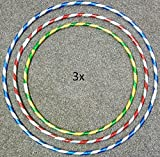 dpny 3x kids adult Weight Loss Sports hoola Hoop Series With Sharpener Exercise Fitness Gym Workout small medium and large, PLUS FREE, SKIPPING ROPE