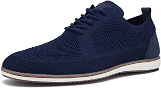 Mens Loafers Shoes Casual Oxford for Male Wingtip Sneakers Mesh Oxfod Outdoor Dress Shoes for Walking Business Formal Occasion Blue Grey Plus Size 11 12
