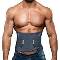 BERTER Lower Back Brace with Adjustable Waist Straps for Back Pain