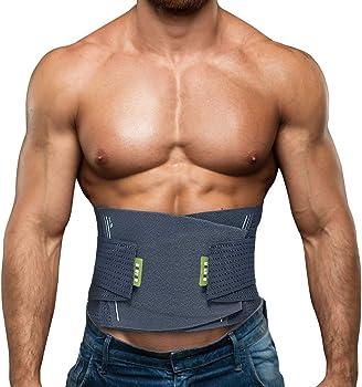 BERTER Lower Back Brace with Adjustable Waist Straps