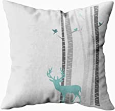 EMMTEEY Home Decor Throw Pillowcase for Sofa Cushion Cover,Christmas Trees Deer Decorative Square Accent Zippered and Double Sided Printing Pillow Case Covers 18X18Inch