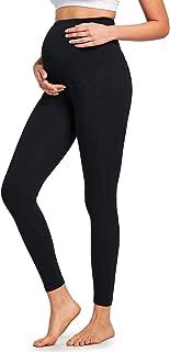 BALEAF Women's Maternity Pregnant Full Length Pocketed Yoga Belly Cotton Leggings