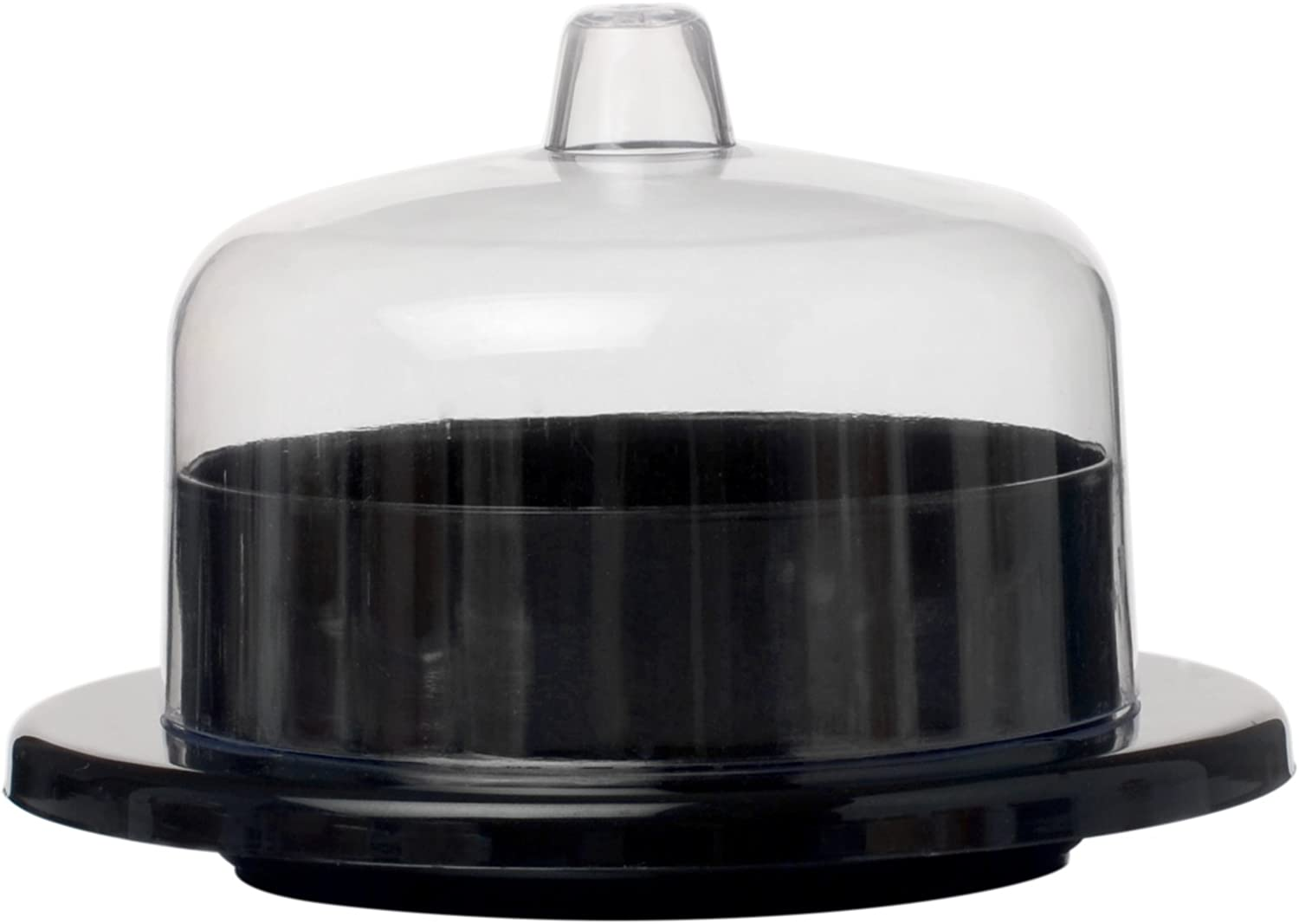 Tiny Temptations Fineline 6700-BK Round Tiny Dome with Lid, 3.25  Diameter 1.5  Height, Black, 10 12 120 Case