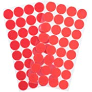 256pcs Hook and Loop Dots (128 Pairs) 1 inch (25mm Coins) Self Adhesive dots- Double Sided Adhesive Dot Tapes - Tape dots for Home Travel Box Trunk Paper Craft Sticks (Red), Opens in a new tab