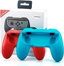 Lammcou Mandos para Switch Empuñaduras Controlador de Joy-con para Mario Kart,Super Mario Odyssey,Just Dance 2018,Fifa 18 Handle Kits para NS Switch Juego,Rojo & Azul(2-pack,Red and Blue)