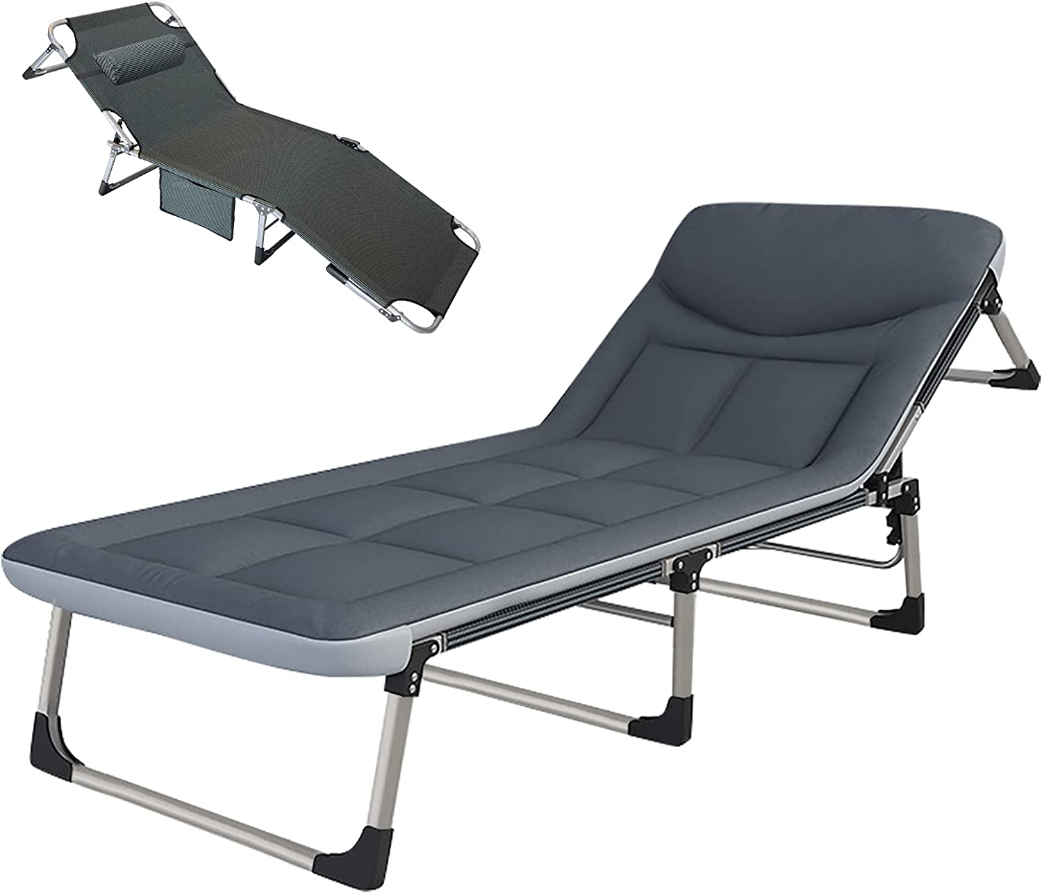 NAIZEA Super intense SALE Adjustable Limited price 4-Position Adults Chaise Reclining Folding Po