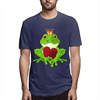 Hot Men Frog Prince Holds A Heart Tightly Tshirt - DIY Funny Short Sleeve Printed Tees Comfotable