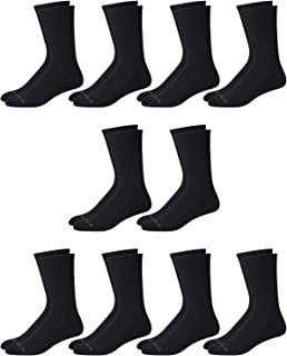Reebok Men's Athletic Performance Cushion Crew Socks With Moisture Control (10 Pack)