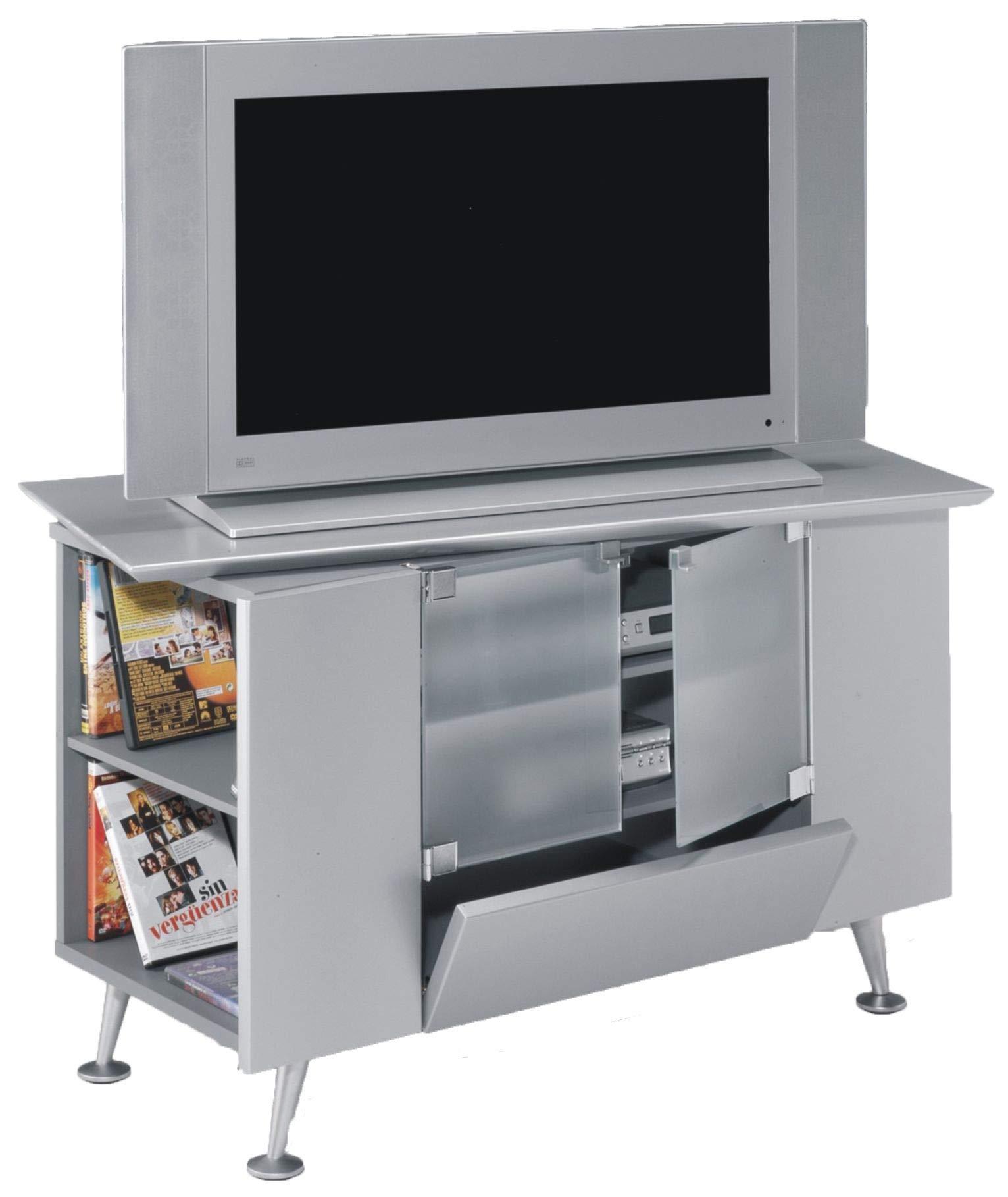 SZ Suarez Mueble TV Estilo Retro Color Gris Salon Mesa Auxiliar ...