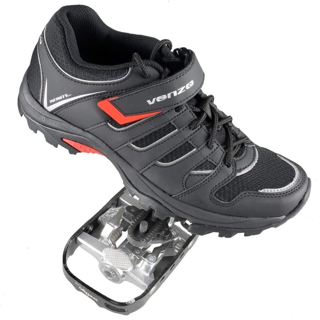 Venzo Mountain Bike Bicycle Cycling Shimano SPD Shoes + Pedals ...