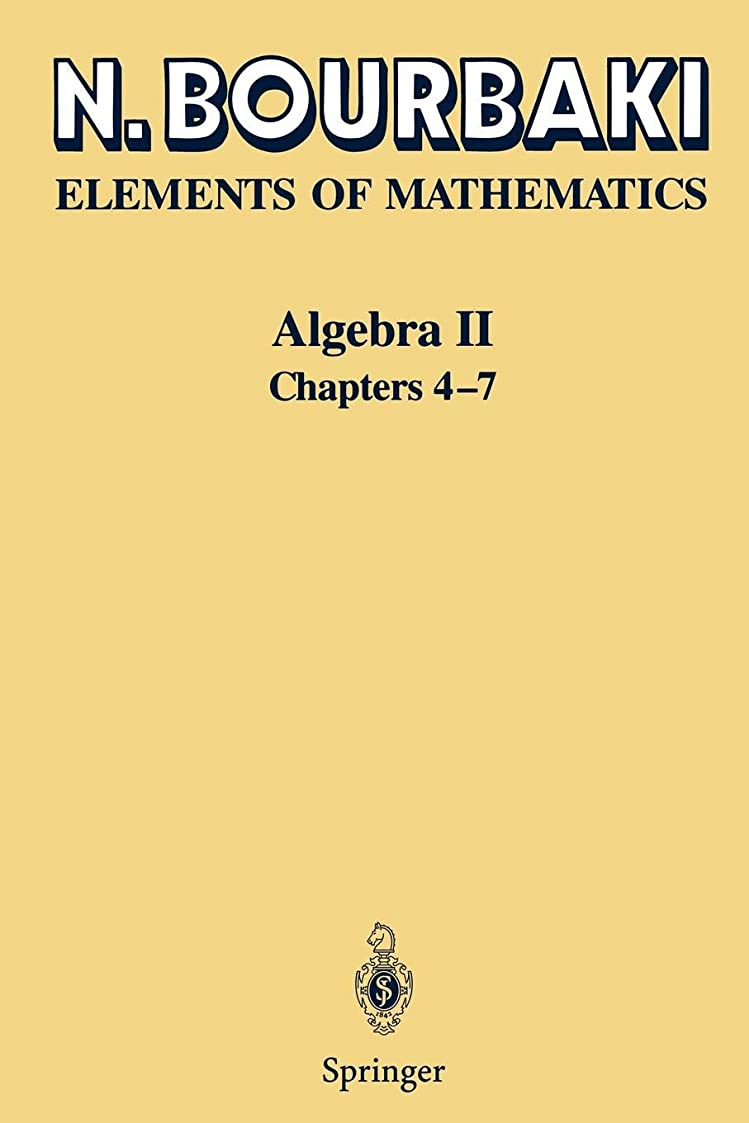 ピン移行汚れるAlgebra II: Chapters 4-7 (Elements of Mathematics)