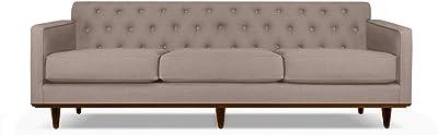 "South Cone Home KENTUFSOF72/BROWN Kent Tufted Linen Sofa, 72"", Brown"