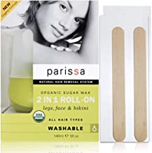 Organic Sugar Wax Roll-On Style (140 Ml), Parissa Hair removal waxing Kit for legs, body, Underarms & Face, Washable With Water