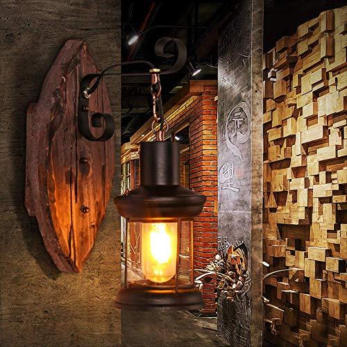 Wandlampe Kreative Einfache Alte Schiffs-Holz-Dachboden-Industrielle Art-Retro- Bar-Café-Holz-Wandleuchte