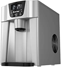 COSTWAY 2 in 1 Countertop Ice Maker with Built-in Water Dispenser, Produces 36 lbs Ice in 24 Hours, Ready in 6 Mins, with ...