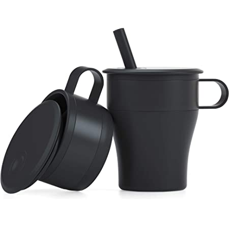 Portable 2PCS Collapsible Wine Cup 18.6oz Foldable Silicone Cup Graduated Silicone Collapsible Travel Cup Expandable Drinking Cup Set for Camping Drinking Coffee
