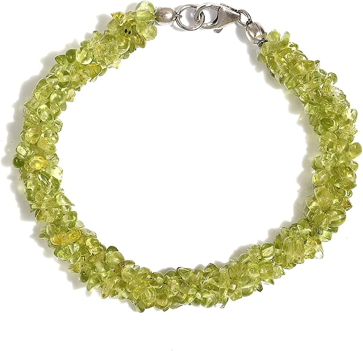 Shop LC 925 Sterling Opening large release Max 77% OFF sale Silver Natural Chips Brace Strand 3 Citrine