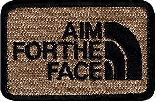 Aim Face Decorative Tactical Combat Costume Insignia Applique Hook Fastener Patch