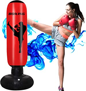 Sponsored Ad - AuGcGoGo Inflatable Punching Bag - 67 Inch Standing Boxing Bag for Boys and Girls, Free Standing Boxing Toy...