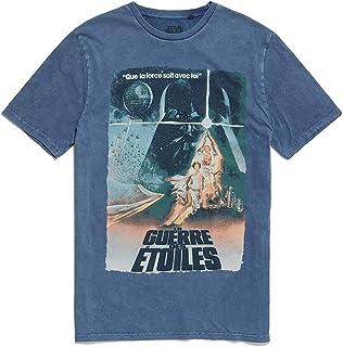 Re:Covered - Camiseta vintage con póster francés de Star Wars azul