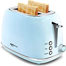 2 Slice Toaster Retro Stainless Steel Toaster with Bagel – Keenstone