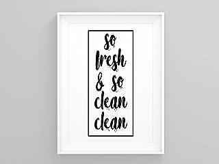 Poster mural encadré So Fresh And So Clean Clean - Art buanderie, décoration d'intérieur, panneau de linge, cadeau de pend...