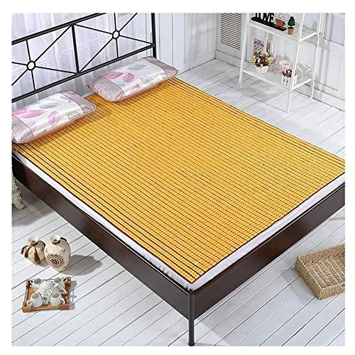 ZXL Cooling Topper bed matras Bamboo Coole slaapmat matras pad kussen gladde geklimatiseerde bed mat vouwen met Ice Silk kussenslopen Home Student slaapzaal (kleur: c, grootte: 80x190 cm