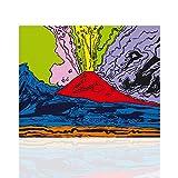 Quadro Moderno Vesuvius Andy Warhol - Stile Pop Art Tela Canvas...