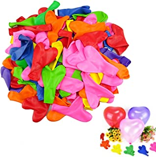 yueton Pack of 100 Assorted Colors Love Heart Shaped 12 inch Latex Balloon for Home Room Celebration Party Wedding Birthday Decoration