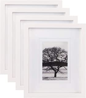 7eff3518afee Egofine 8x10 Picture Frames 4 PCS - Made of Solid Wood High Definition Glass  for Table