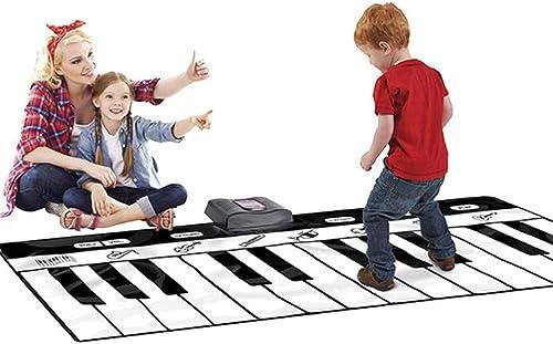 Klaviermatte Musikmatte 71 Zoll 24 Tasten Giant Jumbo Größed Musical Keyboard Playmat mit Rekordwiedergabe Demo Play Einstellbare Lautst e Faltbarer Boden Keyboard Klavier Tanzen Aktivit matte Schr