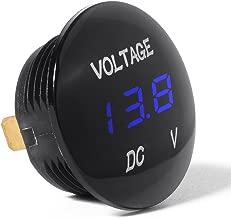 XCSOURCE Universal Digital Display Voltmeter Waterproof Voltage Meter Blue LED for DC 12V-24V Car Motorcycle Auto Truck BI313