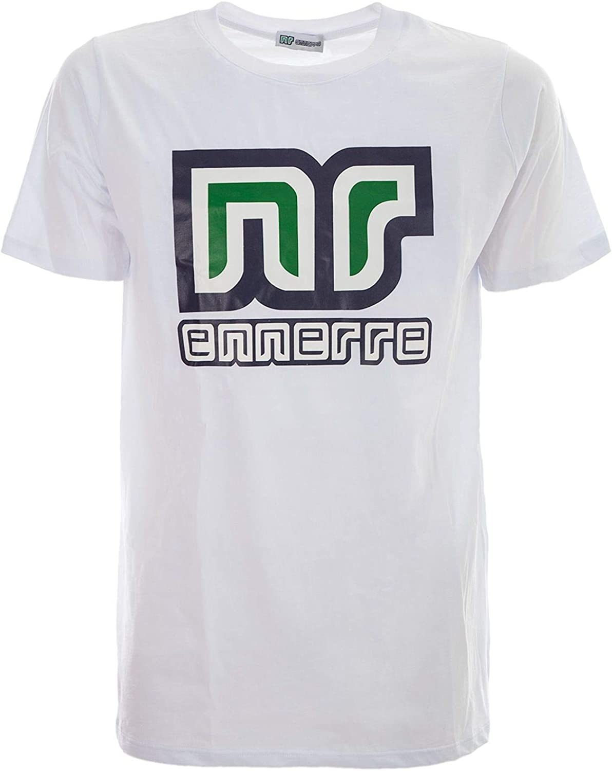 NR ENNERRE BY NICOLA RACCUGLIA Men's NRS15WHITE White Cotton TShirt