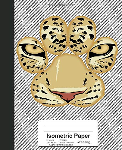 Isometric Paper: Tiger Paw Face Book (Weezag Isometric Paper Notebook)