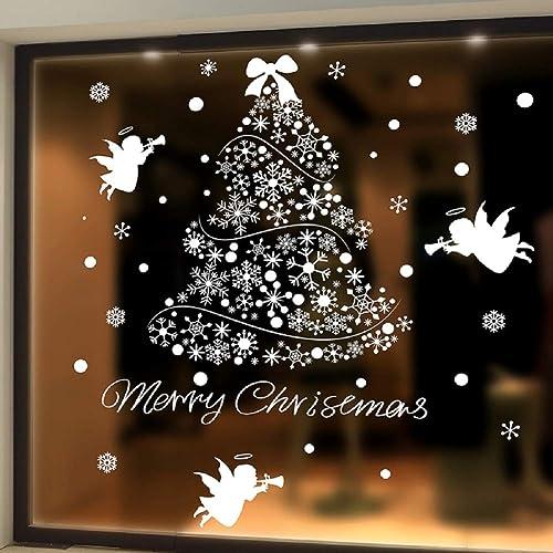 MERRY CHRISTMAS Shop Window Sticker Festive Retail Decoration Decal