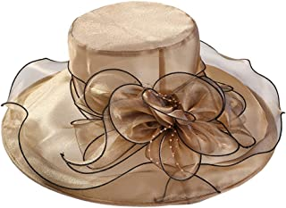 YiyiLai Brim Solid Foldable Sun Hat Derby Wedding Tea Party Kentucky Cap