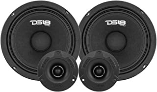 """DS18 PRO-GM6.4PK Mid and High Complete Package - Includes 2X Midrange Loudspeaker 6"""" and 2X Aluminum Super Bullet Tweeter ..."""