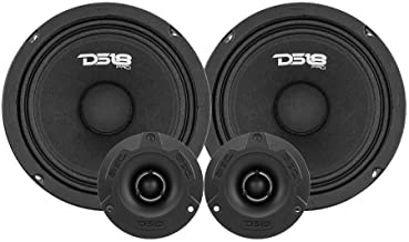 """DS18 PRO-GM6.4PK Mid and High Complete Package - Includes 2X Midrange Loudspeaker 6"""" and 2X Aluminum Super Bullet Tweeter ... photo"""