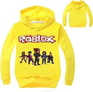 Col-92 Little Big Kids Roblox Hoodies-Roblox Pullover Hooded Tops Sweatshirts for Boys