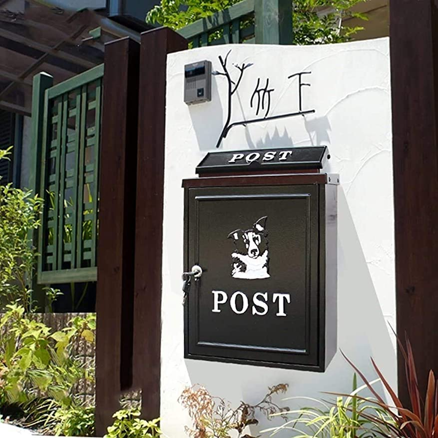 変位降臨割合LSHGJ メールボックスレターボックス屋外の雨水のメールボックスは、壁の裏ボックス大農村創造字幕ボックスの妖精の庭をロックウォールマウント