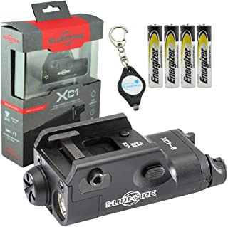 SureFire Weaponlight XC1-B Compact Handgun Light with 4 Extra Energizer AAA Batteries and Lumintrail Keychain Light