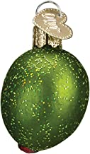 Old World Christmas Glass Blown Ornament with S-Hook and Gift Box, Condiments & Sauces Collection (Stuffed Green Olive)