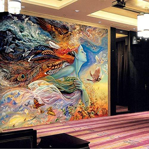 Guokaixyz Muurschildering 3D-muurschildering behangpapier abstract figuur graffiti-schilderij bioscoop bar slaapkamer bank tv achtergrond huis decoratie wallpaper vlies 180x260cm