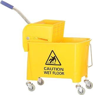 Heavy Duty Mop Bucket Trolley with Wringer 42 liter Yellow