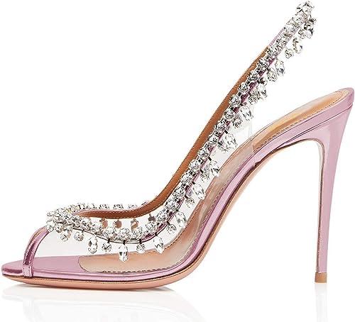 Sandalias de Tacón para damen de Moda schuhe de Novia Diseño de Diamantes de Imitación Sexy Abierta de Dedo para Fiesta Nupcial Bar 2019