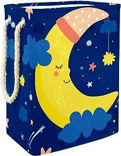 Vockgeng Etoiles Lune Endormie Accueil Organisation Panier de Rangement imperméable Pliable de Jouets de Jouets de Panier ...