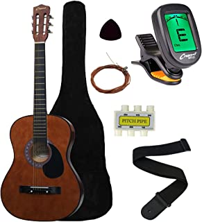 "Crescent MG38-CF 38"" Acoustic Guitar Starter Package, COFFEE (Includes CrescentTM.."
