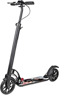 besrey Kick Scooter, Scooter Big Wheel 200 mm for Adult and Teen/Kids Age 8 Year Up with Hand Brake (Black with Carry Strap)