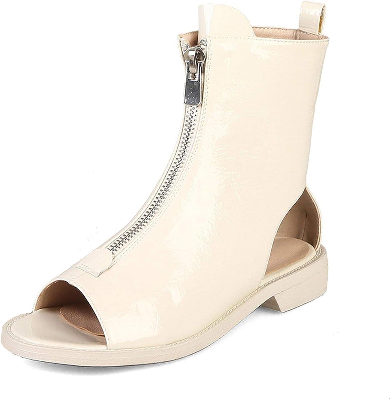 Houfeoans Desgin Summer Forward Zipper Gladiator Sandals Women Large Size 32-42 Platform shoes